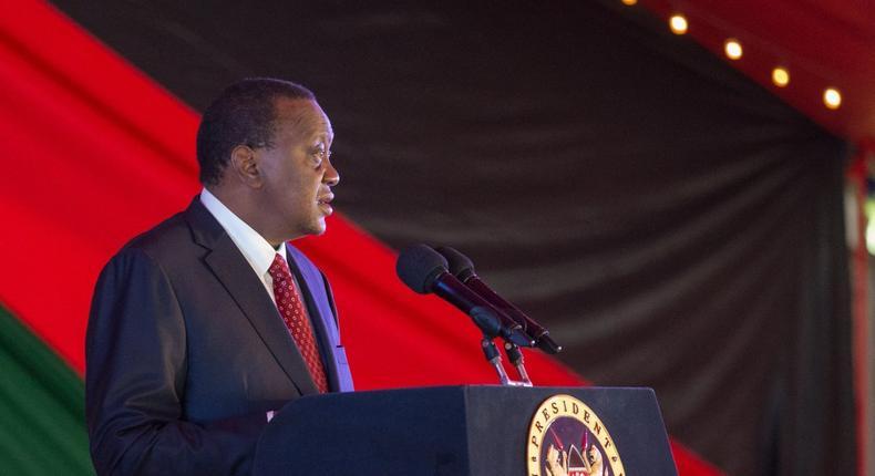 President Uhuru Kenyatta giving a speech