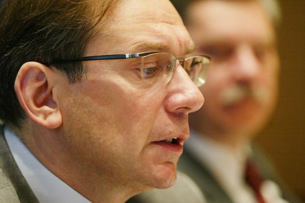 Prezes BRE Banku Cezary Stypułkowski.