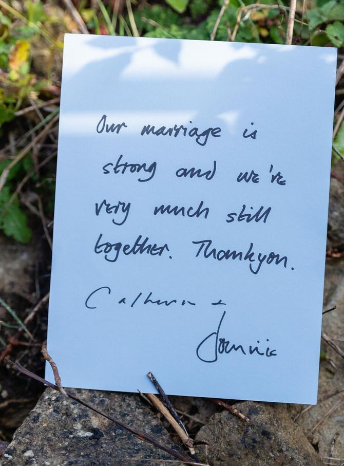 Poruka Dominika i njegove supruge da njihov brak ne može ništa uništiti