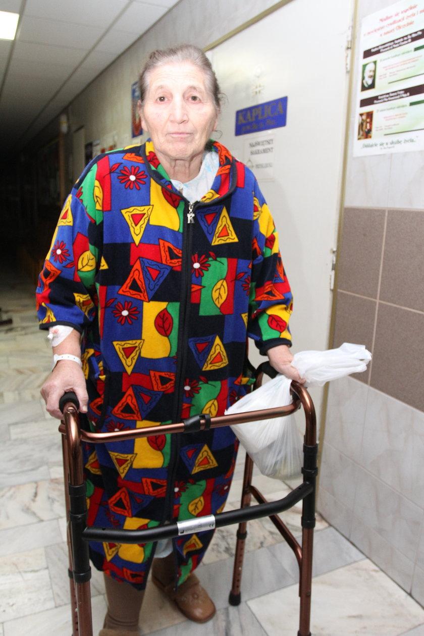Danuta Wielgos, pacjentka