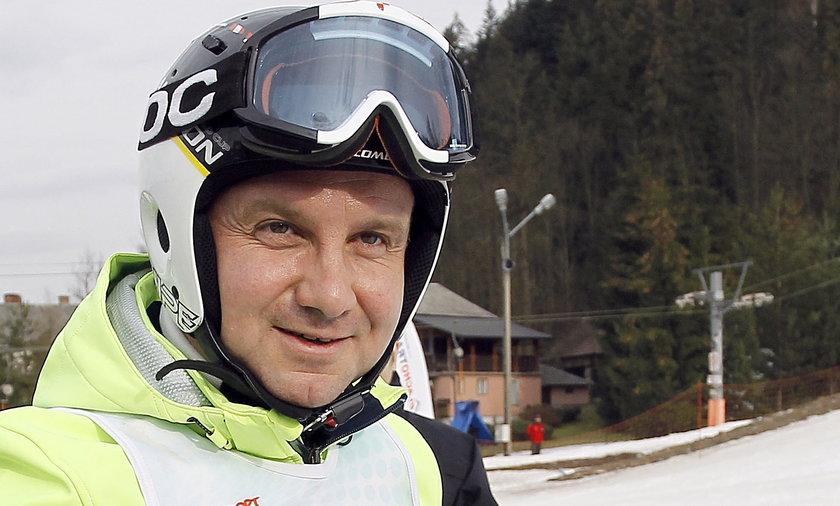 Prezydent Duda na nartach? Będzie szusować kilka godzin bez przerwy?