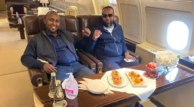 Flying in style: Joho & Junet use private jet to visit Raila in Dubai