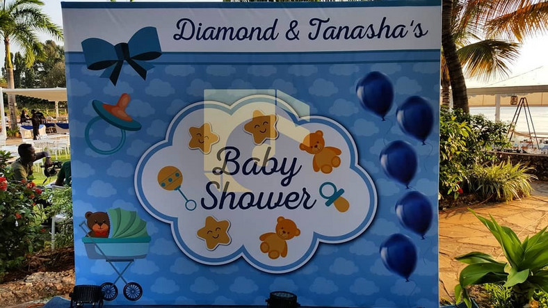 Diamond treats girlfriend Tanasha Donna to an exquisite invites only baby shower, Vera Sidika steals the show