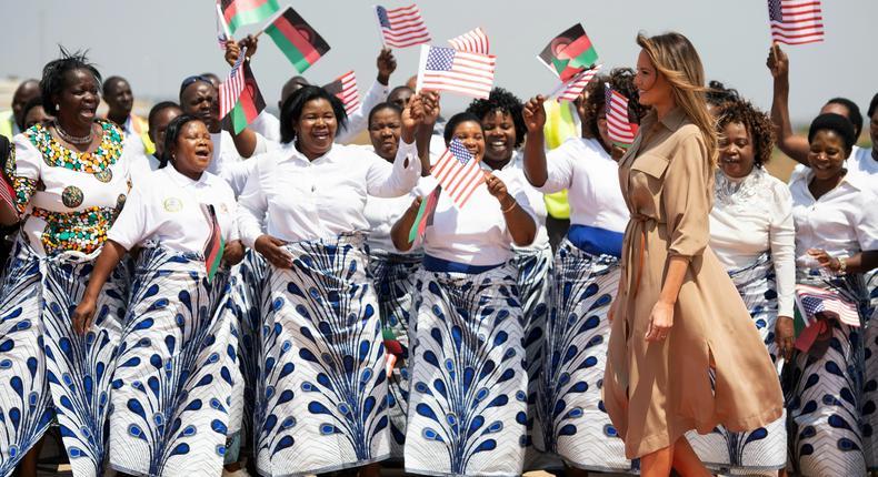 Melania Trump in Malawi. (share.america)