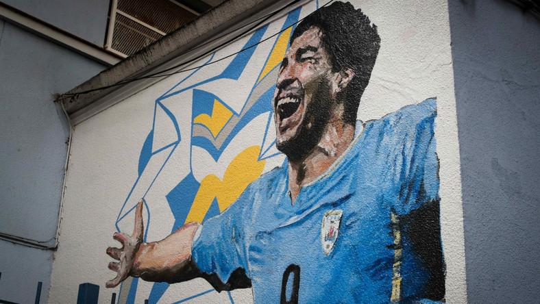 Luis Suarez na muralu w Montevideo