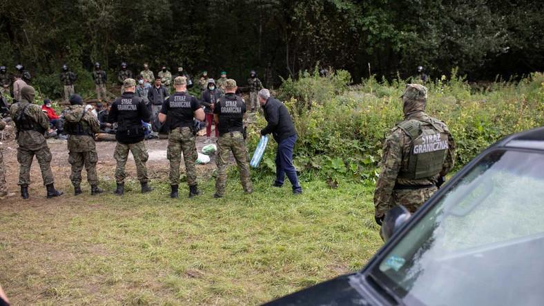 Straż Graniczna w miejscowości Usnarz Górny