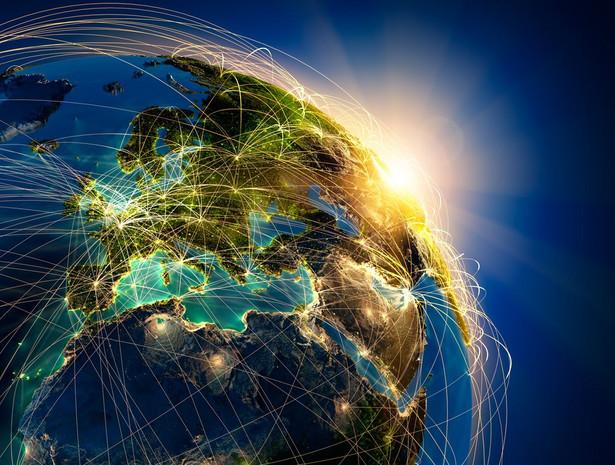 Internet, kula ziemska, świat