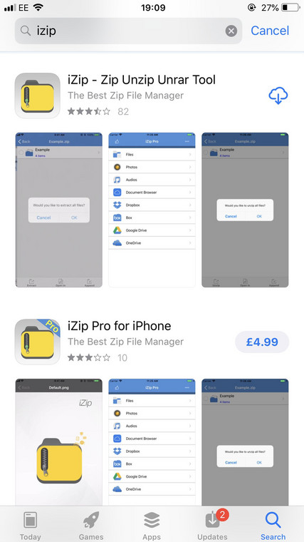 How to unzip files on your iPhone using the free iZip app