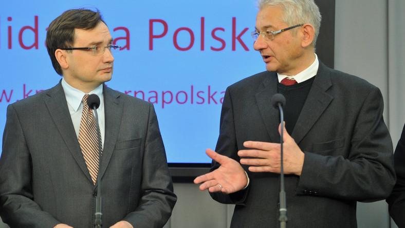 Zbigniew Ziobro i Ludwik Dorn