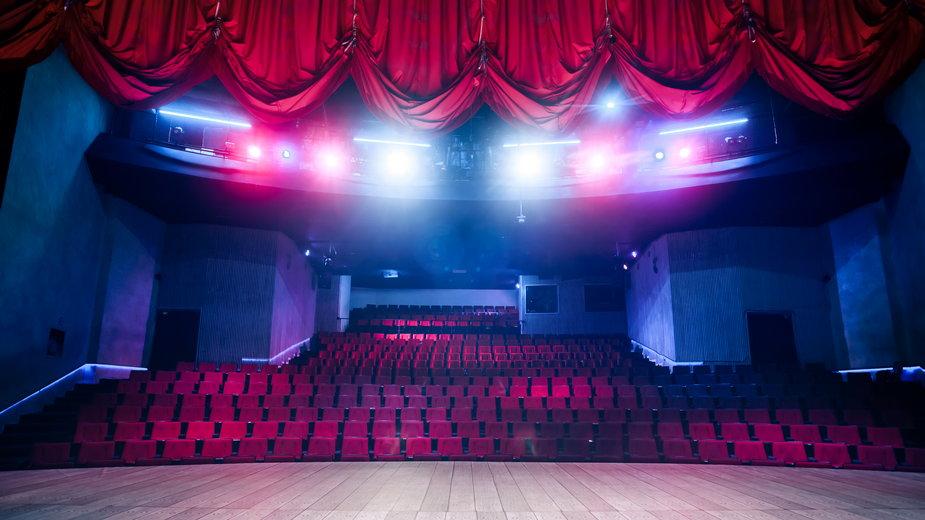Puste teatry w czasie pandemii