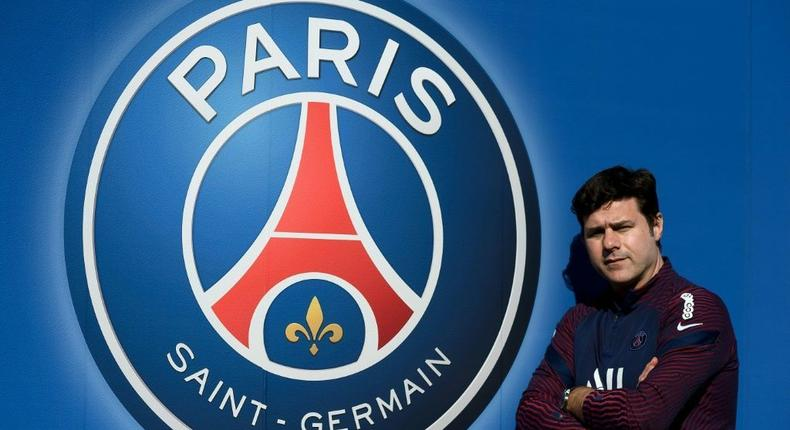 Staying on: Paris Saint-Germain's Argentinian head coach Mauricio Pochettino Creator: FRANCK FIFE