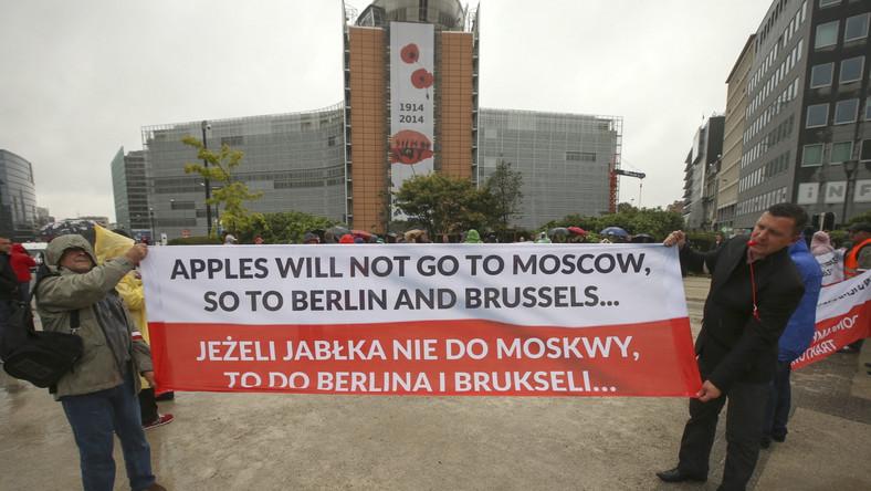 Polscy rolnicy w Brukseli