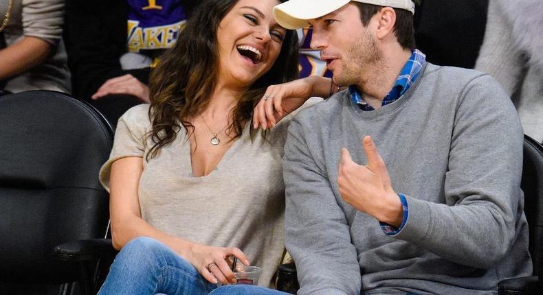 Mila Kunis and Ashton Kutcher [Instagram/cinepydia]