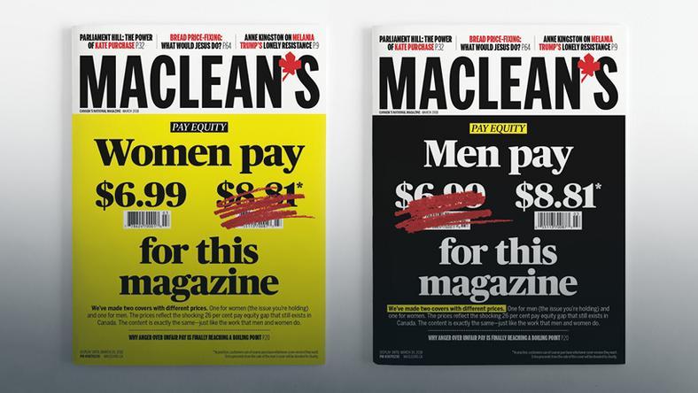 Mężczyźni zapłacą więcej za gazetę