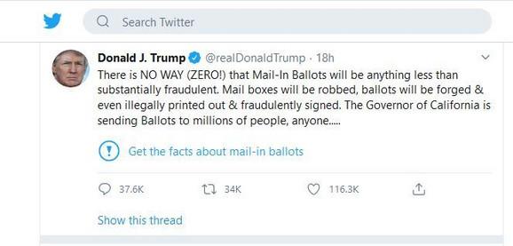 Trampov sporni tvit