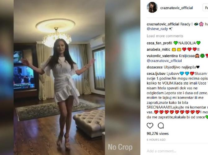 Ceca u miniću osvojila Instagram: Haljina je sjajna, ali je njena linija BEZ GREŠKE!
