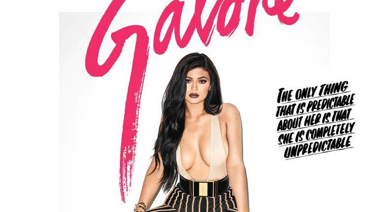 Kylie Jenner covers a provocative issue of Galore Magazine