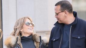 Jennifer Lopez na spacerze z partnerem. Jacy oni zakochani!