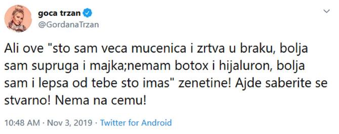 Tvit Gce Tržan o kojem se priča