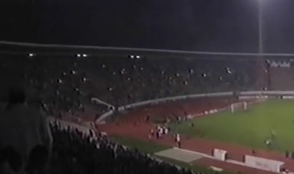 Poluprazna severna tribina na meču Zvezda - Spartak posle incidenata
