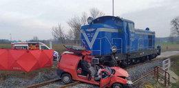 Makabra na przejeździe kolejowym w Drygałach