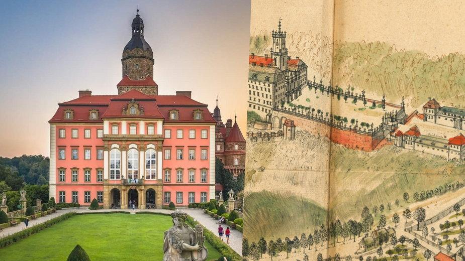 Dziedziniec honorowy Zamku Książ w Wałbrzychu