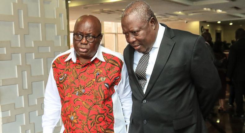 Special Prosecutor Martin Amidu with Nana Addo