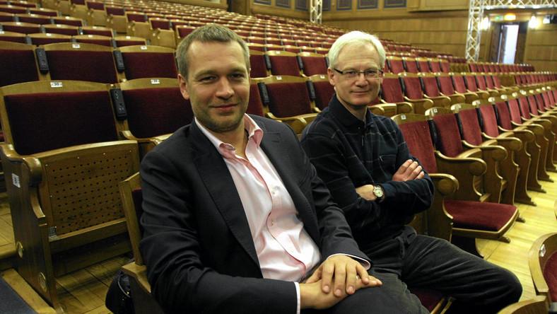 Dyrektor teatru Michał Żebrowski i Eugeniusz Korin, dyrektor artystyczny