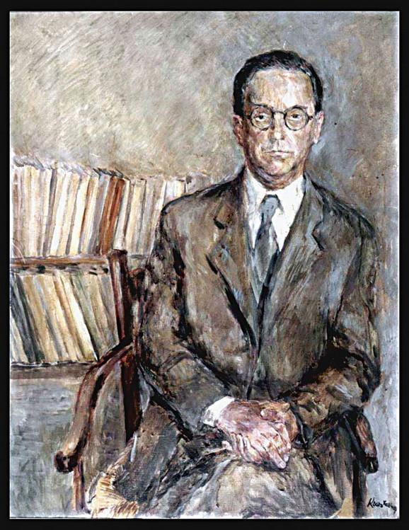 Andrićev portret iz 1950, autor Kosta Hakman