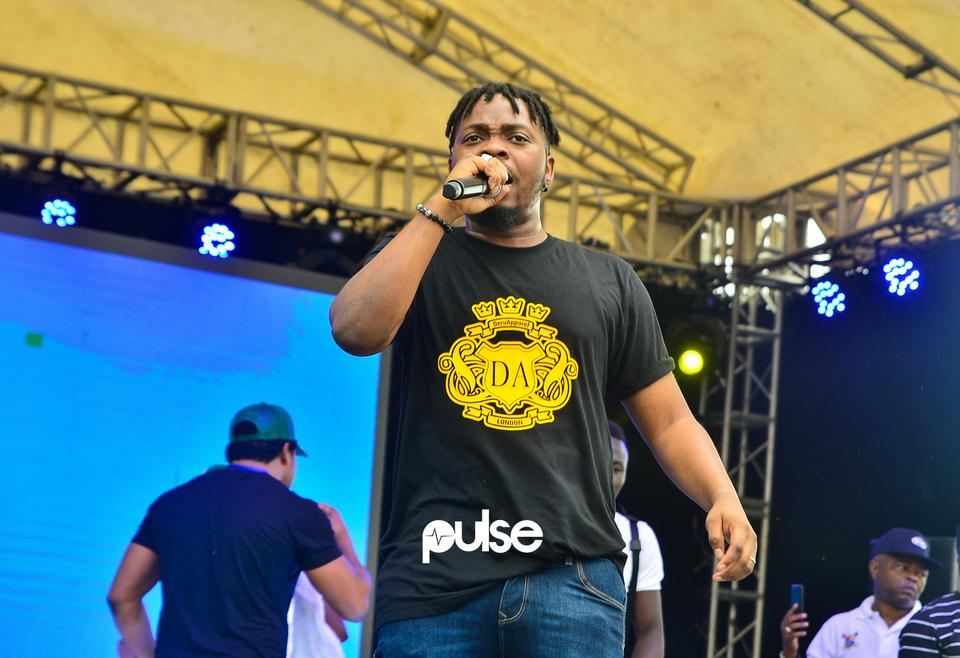 Olamide performing at Access Bank Lagos City Marathon 2019
