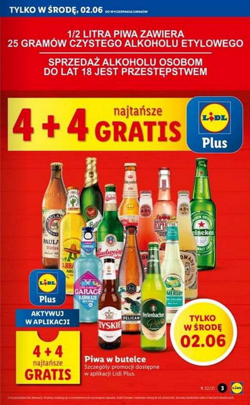 Lidl promocja na darmowe piwo w środę 2 czerwca 2021.