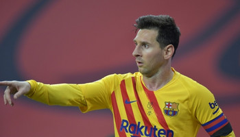Sensational strike: Lionel Messi scored twice in Saturday's final