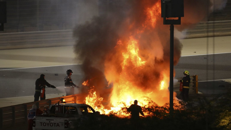 Wypadek na torze w Bahrajnie