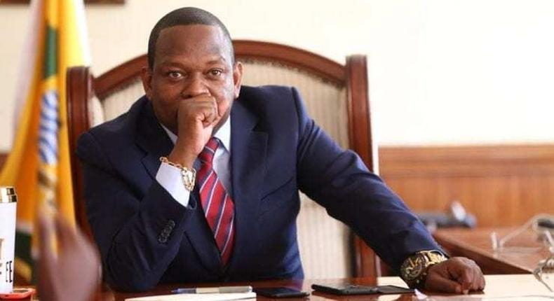 File image of Governor Mike Sonko. High Court allows Peter Nderitu to demolish Glad Tidings structures in Buru Buru which was stopped by the governor