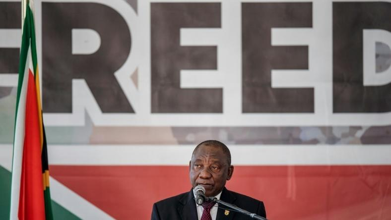South African President Cyril Ramaphosa said that large swathes of the country's population still aren't free, 25 years after apartheid