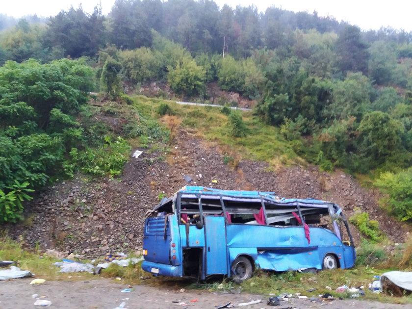 Tragiczny wypadek autokaru w Bułgarii