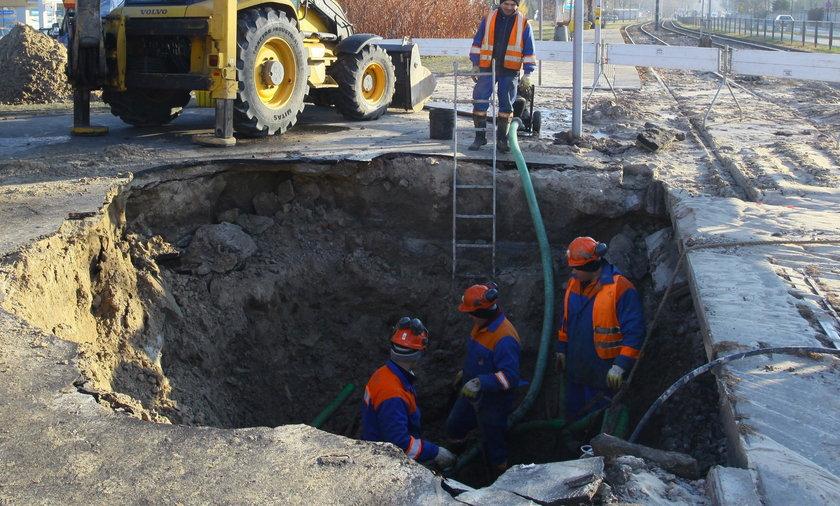 Awaria wodociągowa w Warszawie