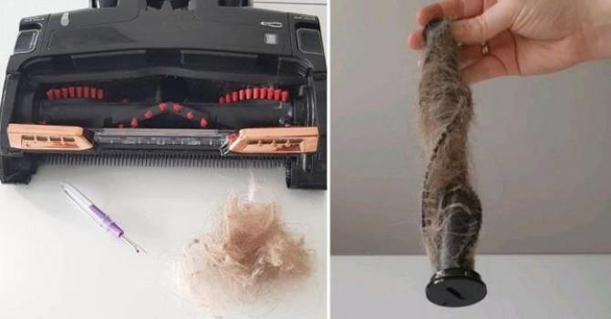 Očistite dlake iz usisivača ovim jednostavnim trikom