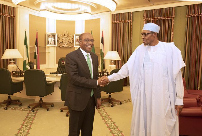 CBN Gov Emefiele and President Buhari now sing from the same hymn sheet (Presidency)
