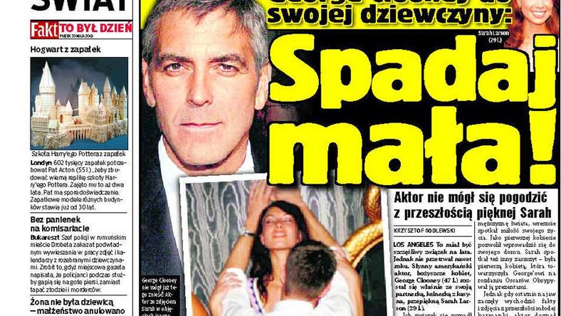 George Clooney rozstał się  ze swoją partnerką