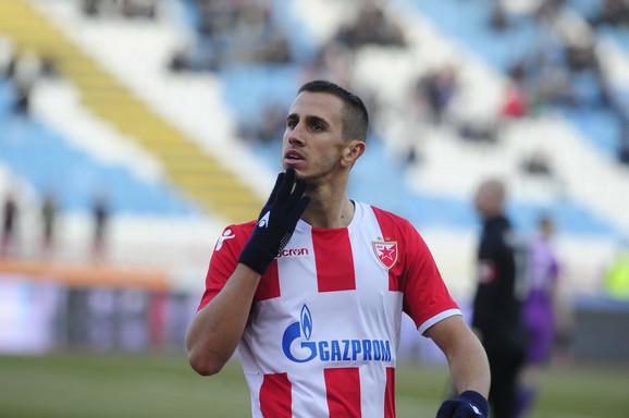 Aleksandar Pešić u periodu dok je nosio dres Crvene zvezde