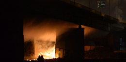 Tak płonął wielki warszawski most