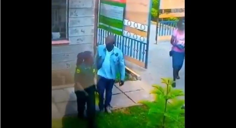 Viral CCTV clip of female guard being assaulted at Komarock Phase 5A causes uproar