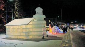 Piękny lodowy kościół, który można podziwiać tylko przez kilka miesięcy w roku