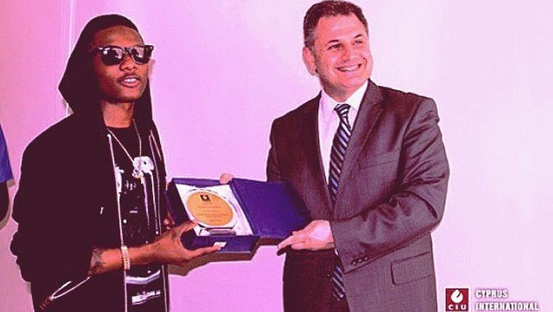 Wizkid receives his honours at the Cyprus International University