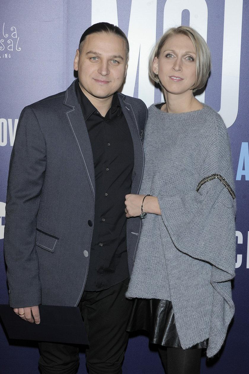 Paweł Golec z żoną