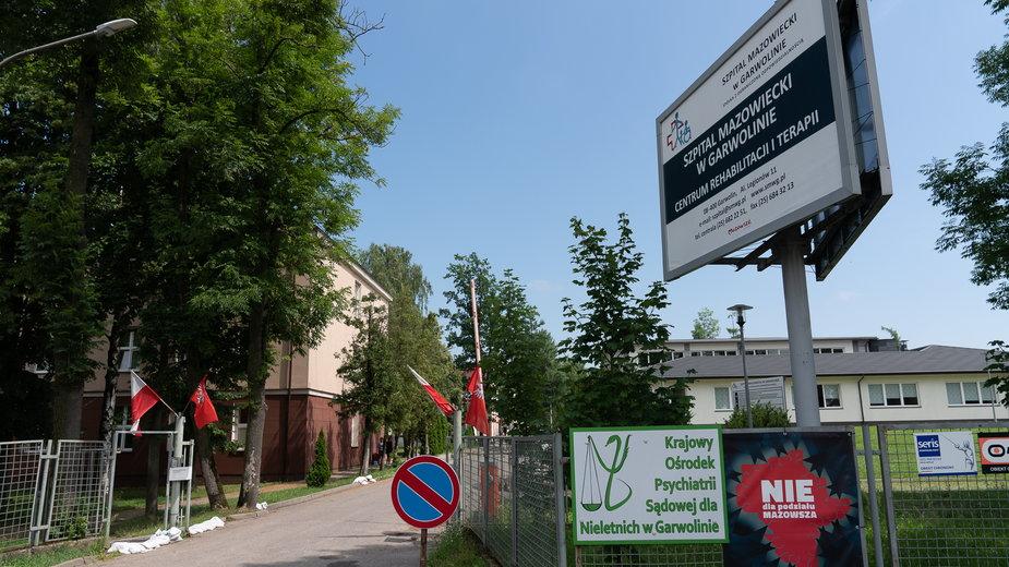 Teren Szpitala Mazowieckiego w Garwolinie
