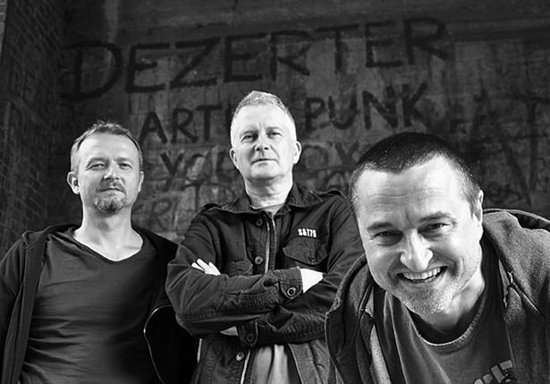 Zespół Dezerter: Robert Matera, Krzysiek Grabowski, Jacek Chrzanowski