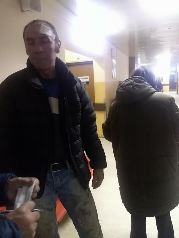 Saša Milenković, otac povređene porodilje i suvozač u