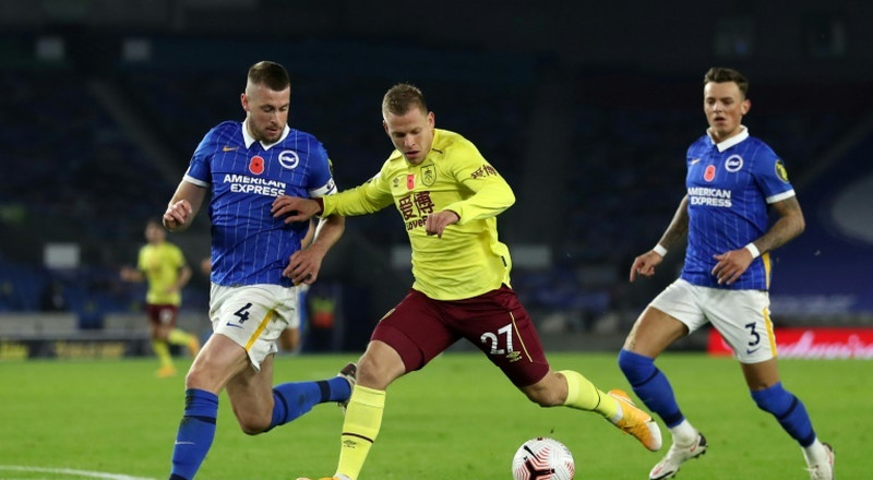 Burnley's wait for first win goes on after Brighton stalemate